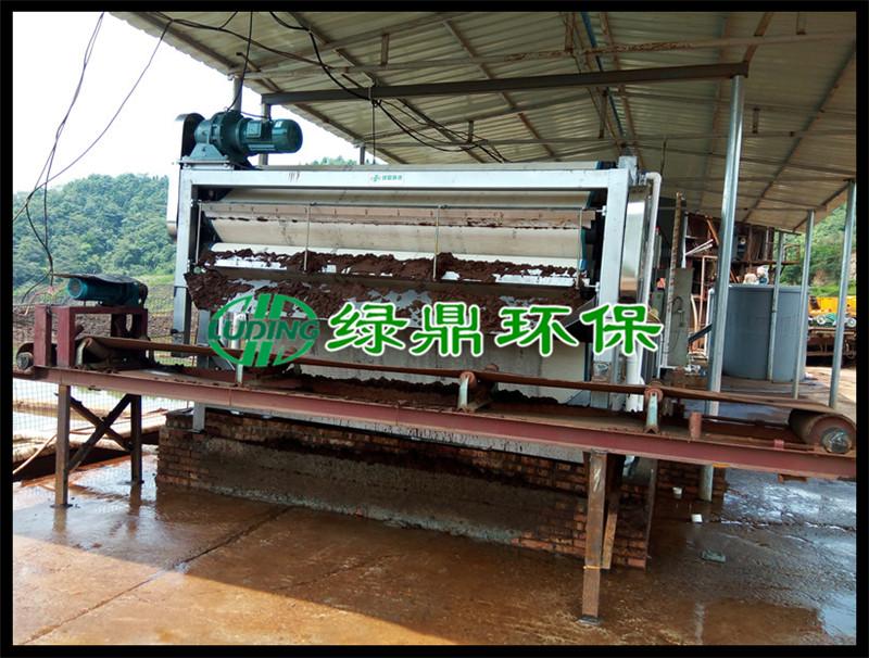 磷矿尾矿脱水机设备使用案例现场(湖南)